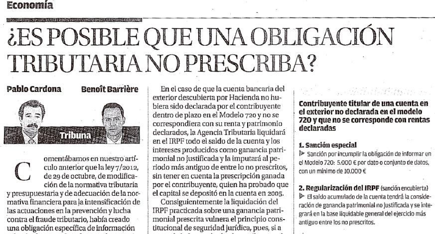 ¿Es posible que una obligación tributaria no prescriba?.