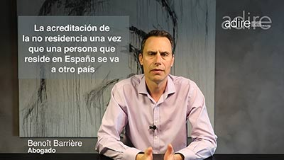 "Acreditación de la ""no residencia fiscal"" con cambio de residencia de España a otro país"