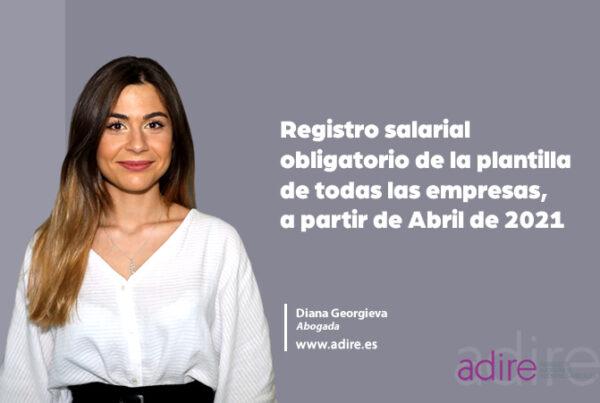 Registro salarial obligatorio de la plantilla de todas las empresas, a partir de Abril de 2021